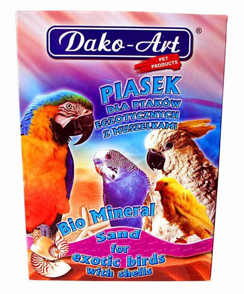 Dako písek pro ptáky s mušlemi 1kg BIO MINERAL-10288