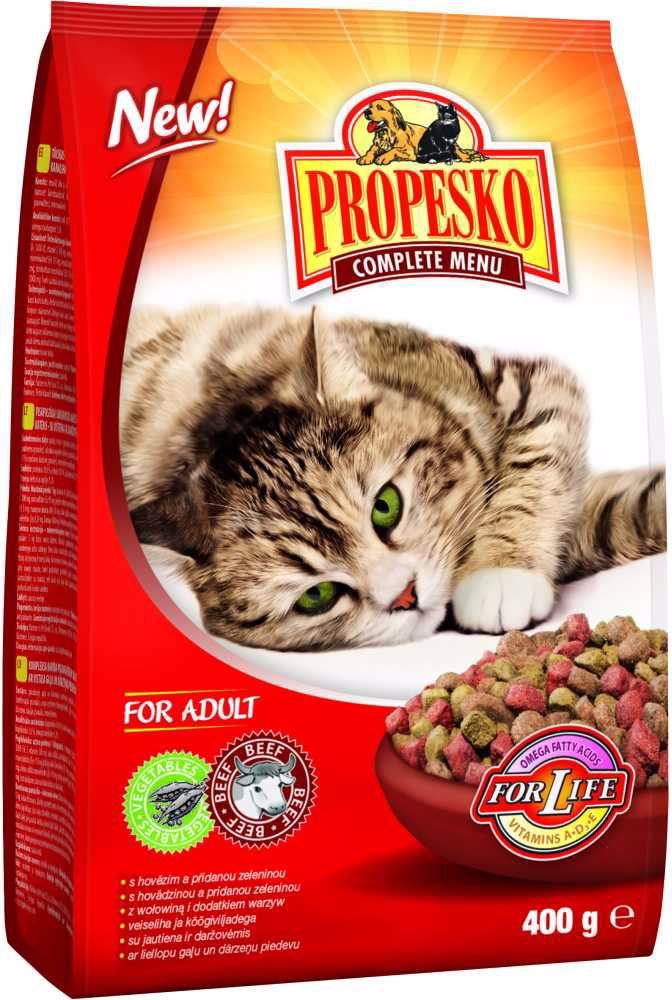 PROPESKO Cat hovězí se zeleninou, granule 400 g