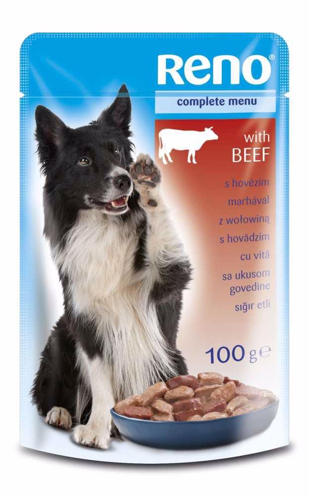 RENO Dog hovězí, kapsa 100 g