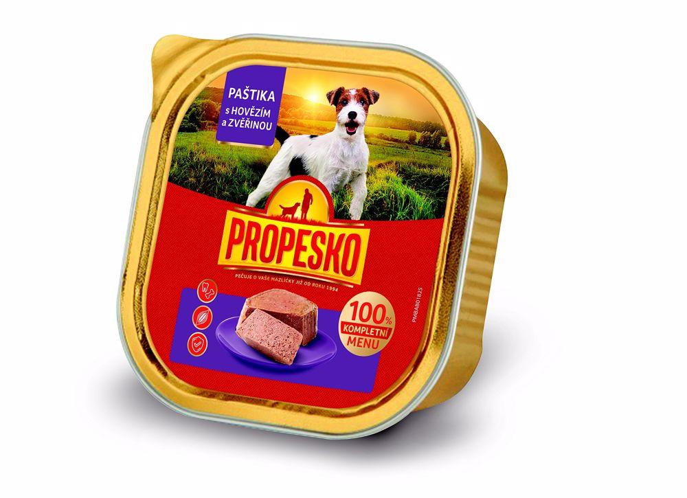 PROPESKO Dog hovězí a zvěřina, vanička 300 g