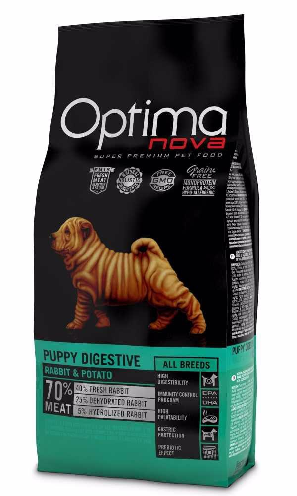 OPTIMAnova Dog Puppy Digestive Rabbit & Potato GF 2 kg