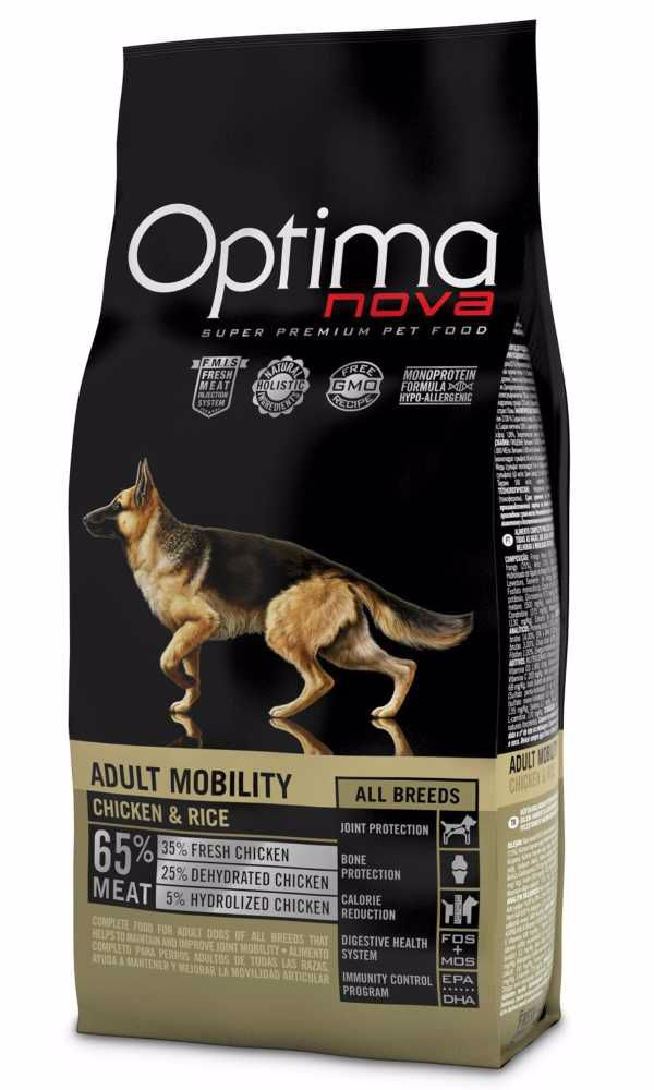 OPTIMAnova Dog Mobility Chicken & Rice 12 kg