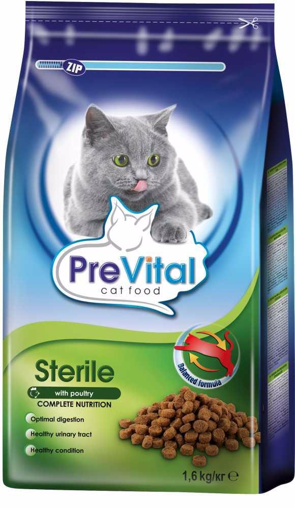 PreVital kočka sterilní, granule 1,6 kg
