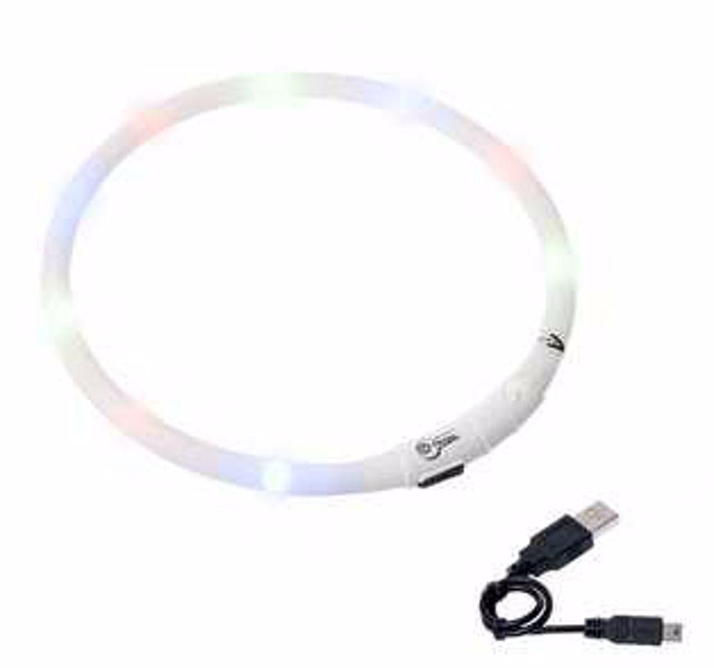 Karlie LED obojek dobíjecí bílá 75 cm