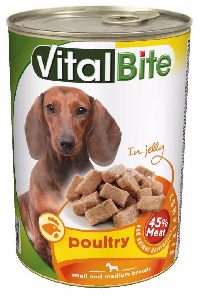 VitalBite pes drůbeží želé, kousky 415 g