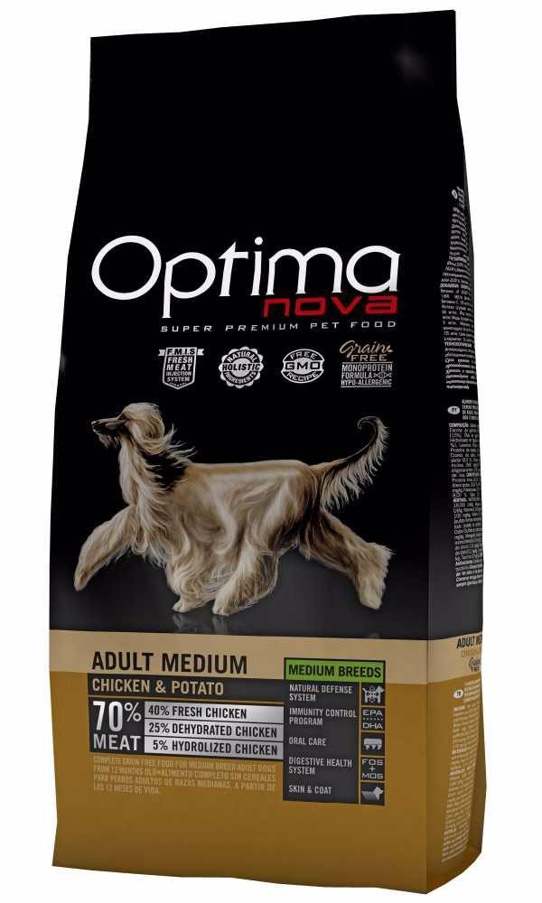 OPTIMAnova Dog Adult Medium Chicken & Potato GF12 kg