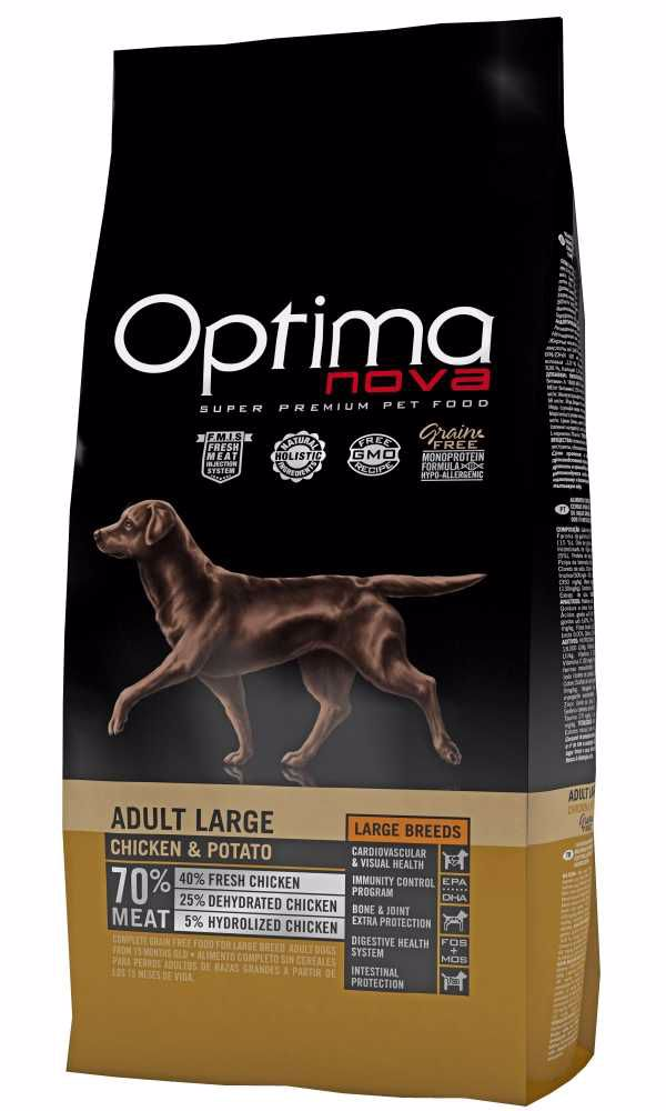OPTIMAnova Dog Adult Large Chicken & Rice GF 12 kg