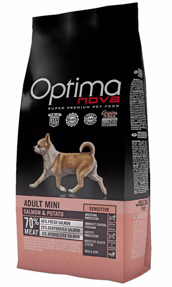 OPTIMAnova Dog Adult Mini Senstive Salmon & Potato GF 2 kg