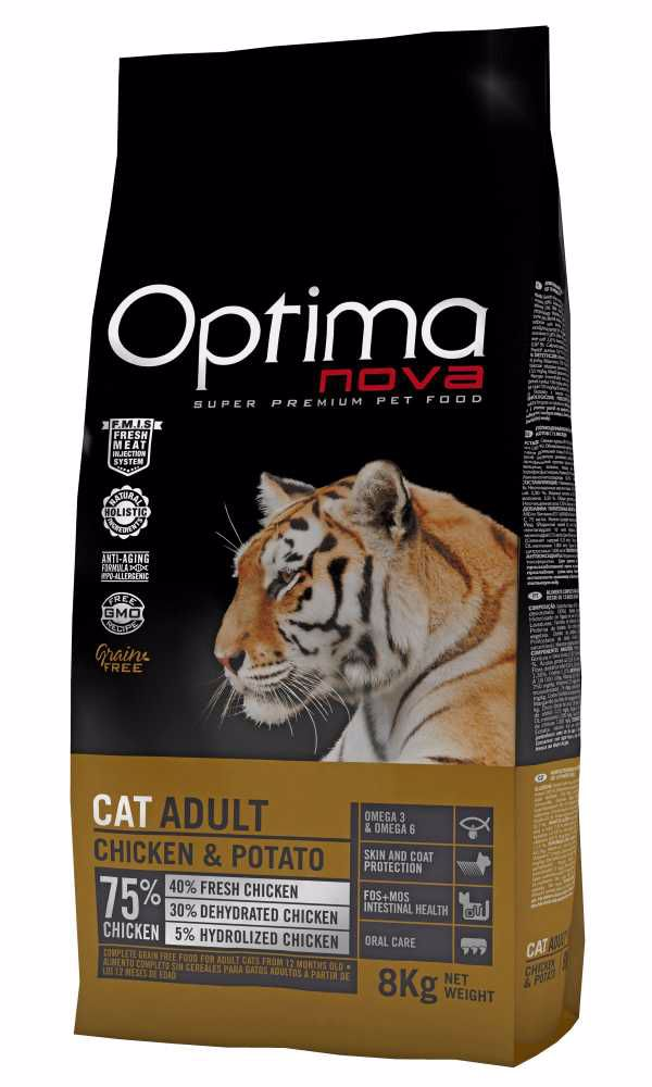 OPTIMAnova CAT CHICKEN GRAIN FREE 8kg-11724
