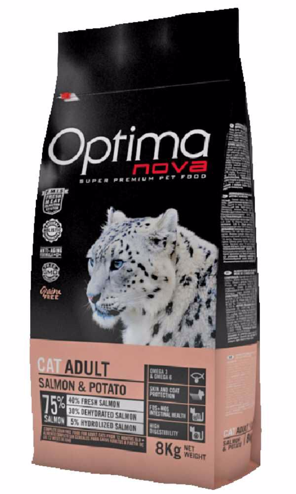 OPTIMAnova CAT SALMON GRAIN FREE 8kg-11727