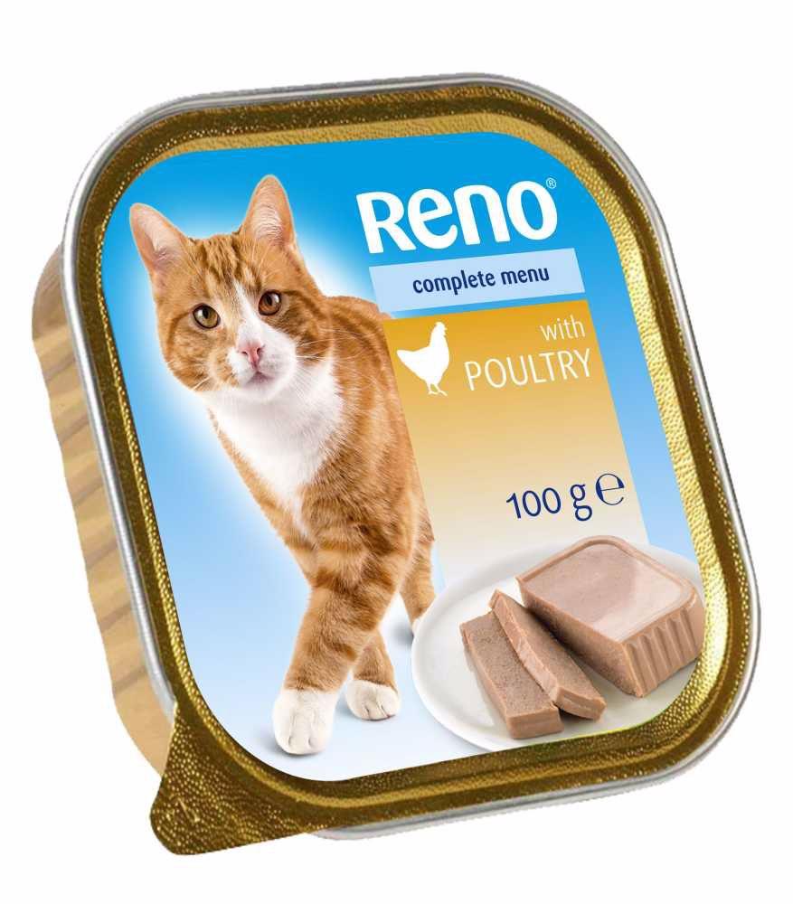 RENO Cat drůbeží se zeleninou, vanička 100 g