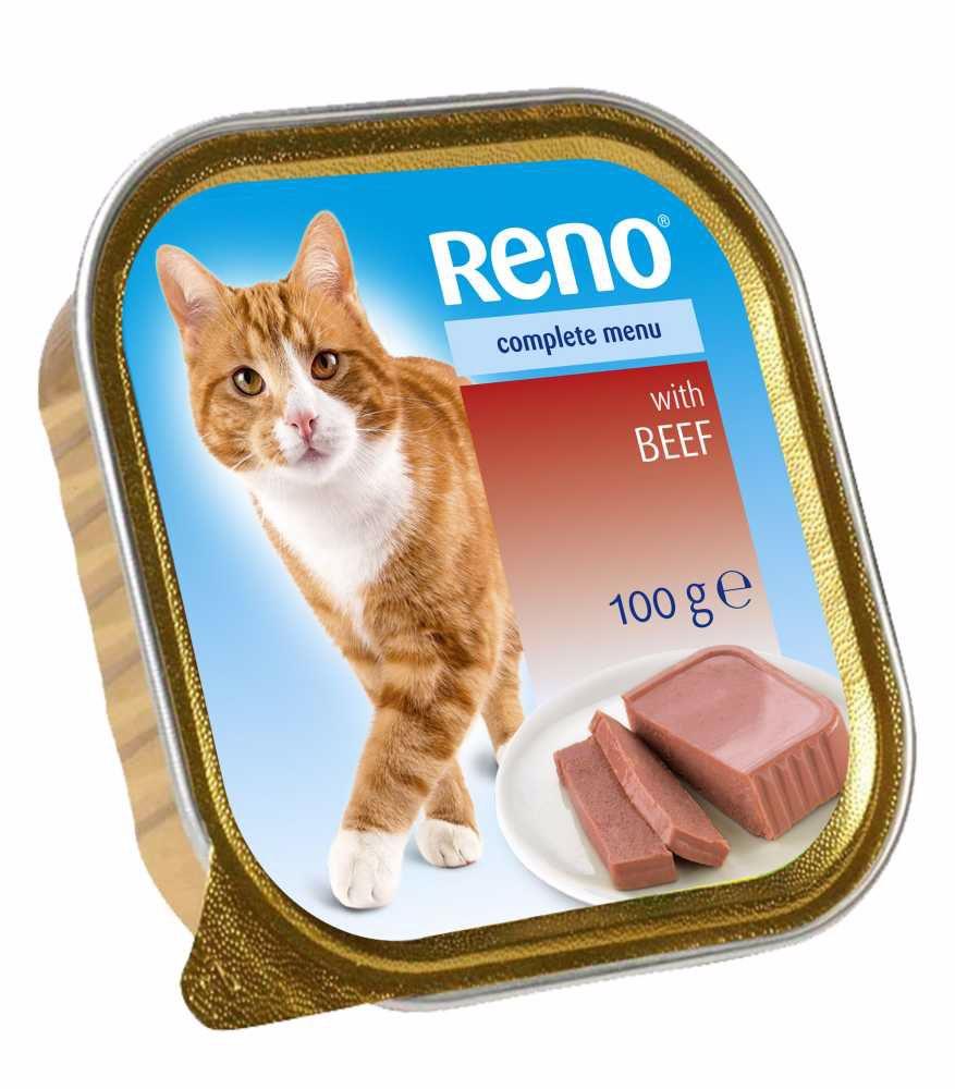 RENO Cat hovězí se zeleninou, vanička 100 g