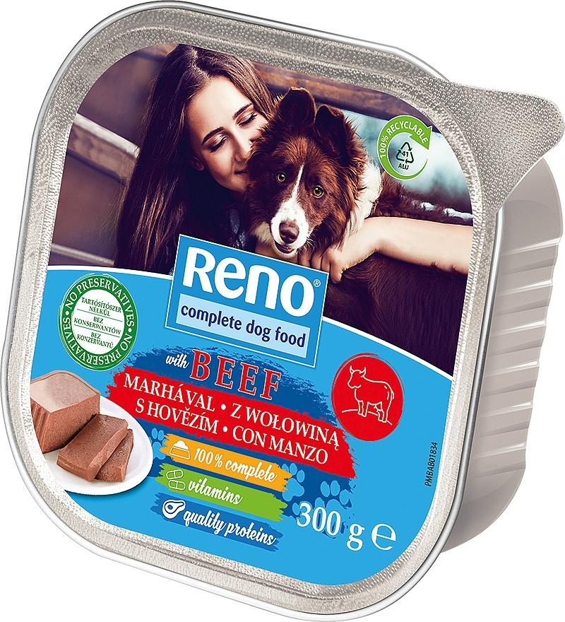 RENO Dog hovězí, vanička 300 g