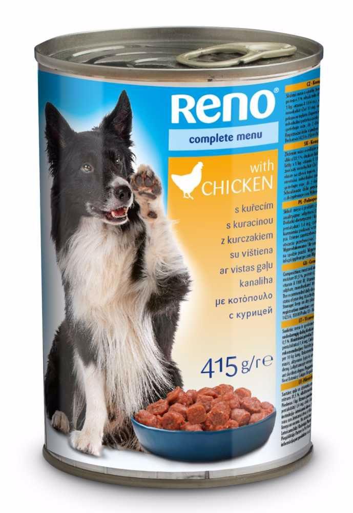 RENO Dog kuřecí, kousky 415 g
