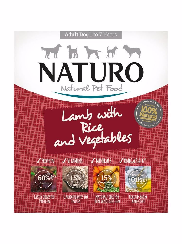 Naturo Dog Adult Lamb & Rice with Vegetables 400 g