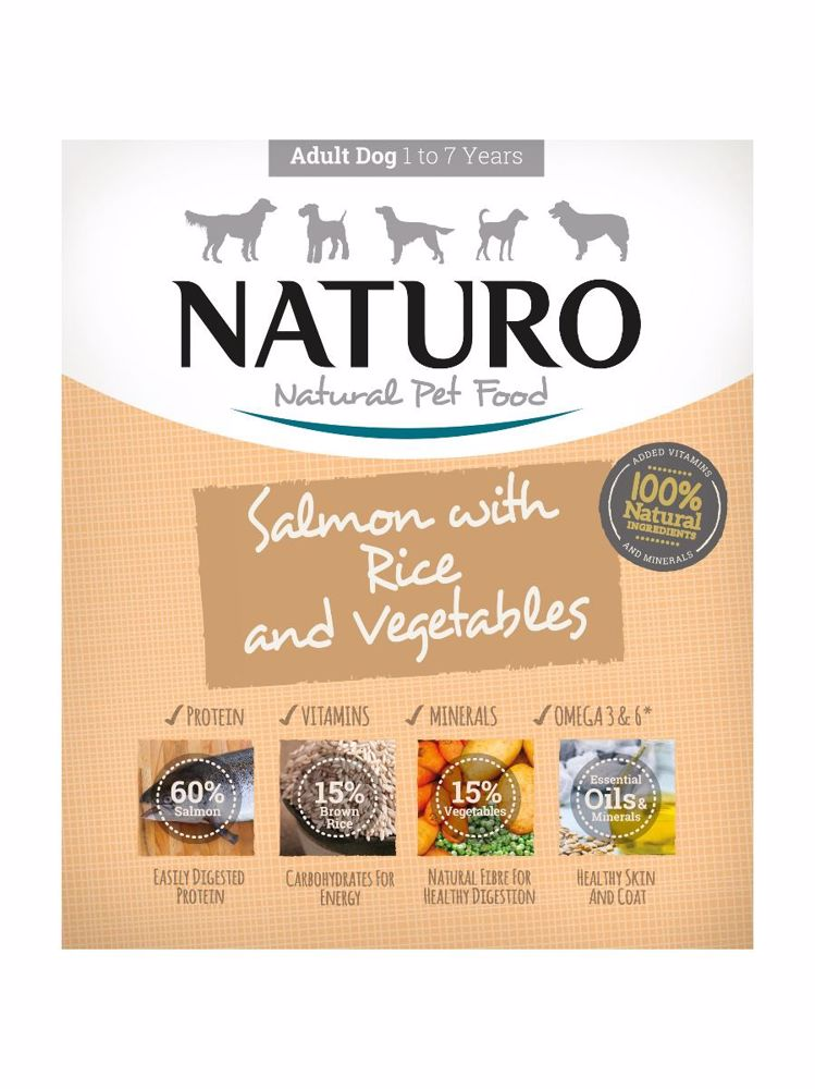 Naturo Dog Adult Salmon & Rice with Vegetables 400 g