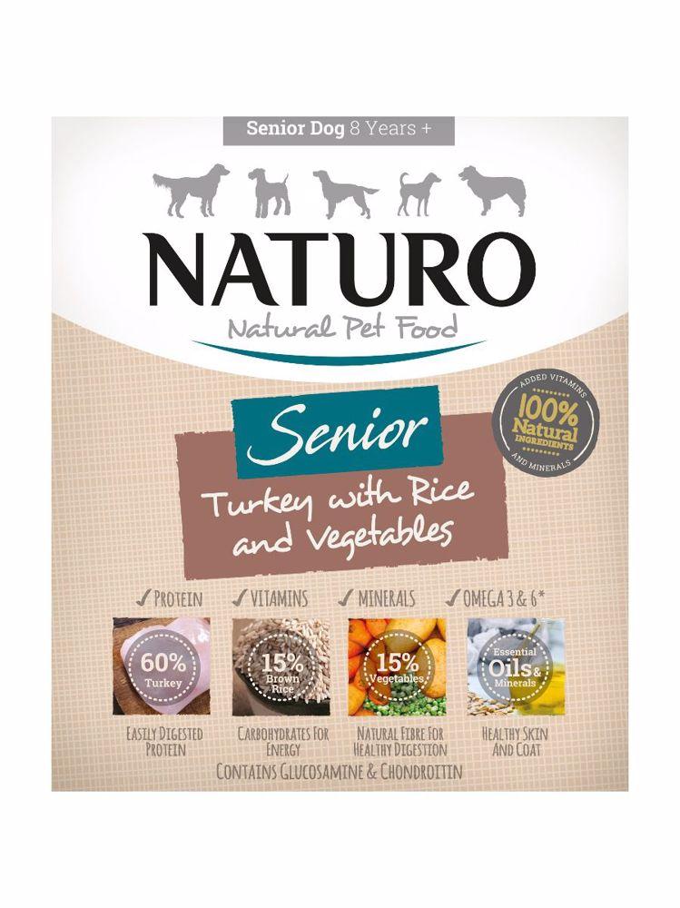 Naturo Dog Senior Turkey & Rice with Vegetables 400 g