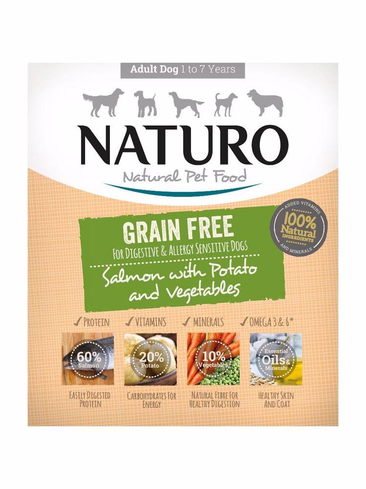 Naturo Dog Salmon & Potato with Vegetable GF 400 g