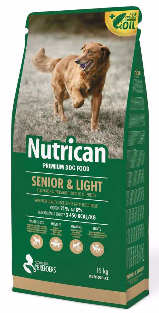 NUTRICAN dog SENIOR & LIGHT 15kg +2kg NAVIC