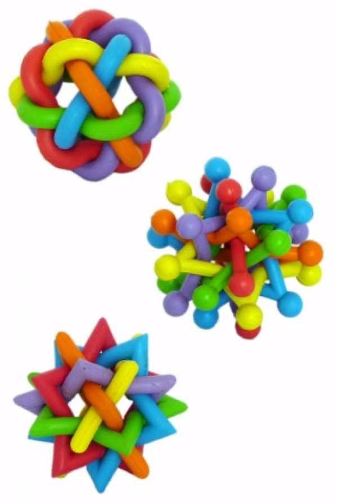 Gumový splétaný míč RUBBER 7-8cm-140030