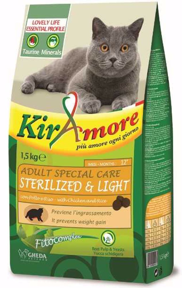 Kiramore Cat Adult Sterilized 15 kg
