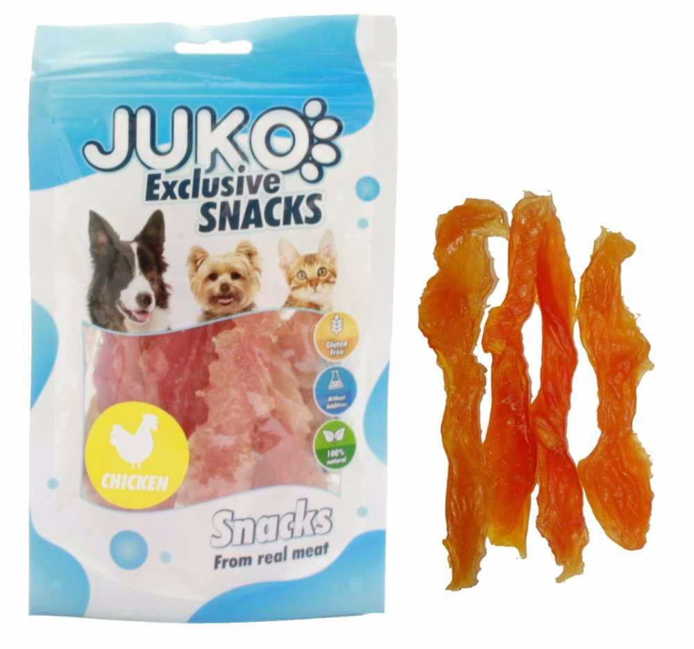 Snack SOFT Chicken Jerky made by hand 70g-12408