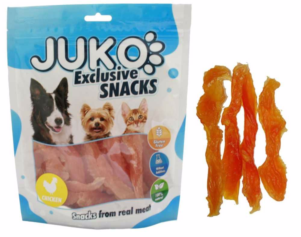 Snack SOFT Chicken Jerky made by hand 250g-12409