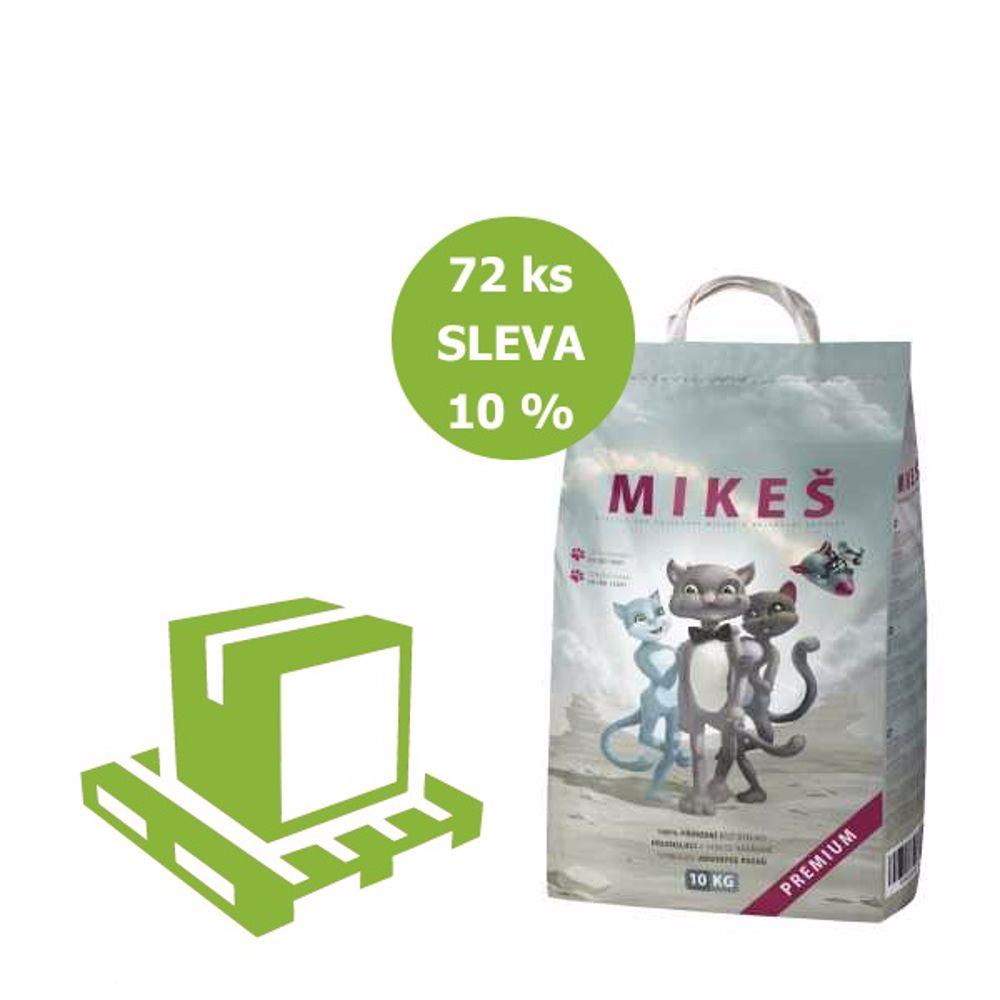 MIKEŠ Premium bílé hrudkující 10 kg (paleta 72 ks) SLEVA 10%