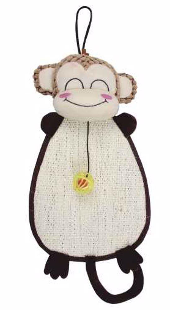 Škrábadlo opice k zavěšení s hračkou