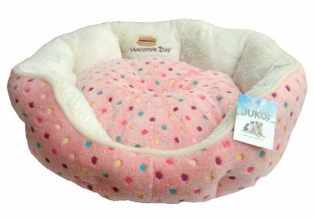 Pelíšek s puntíky Extra soft-S-růžová-45x40x14cm-12736
