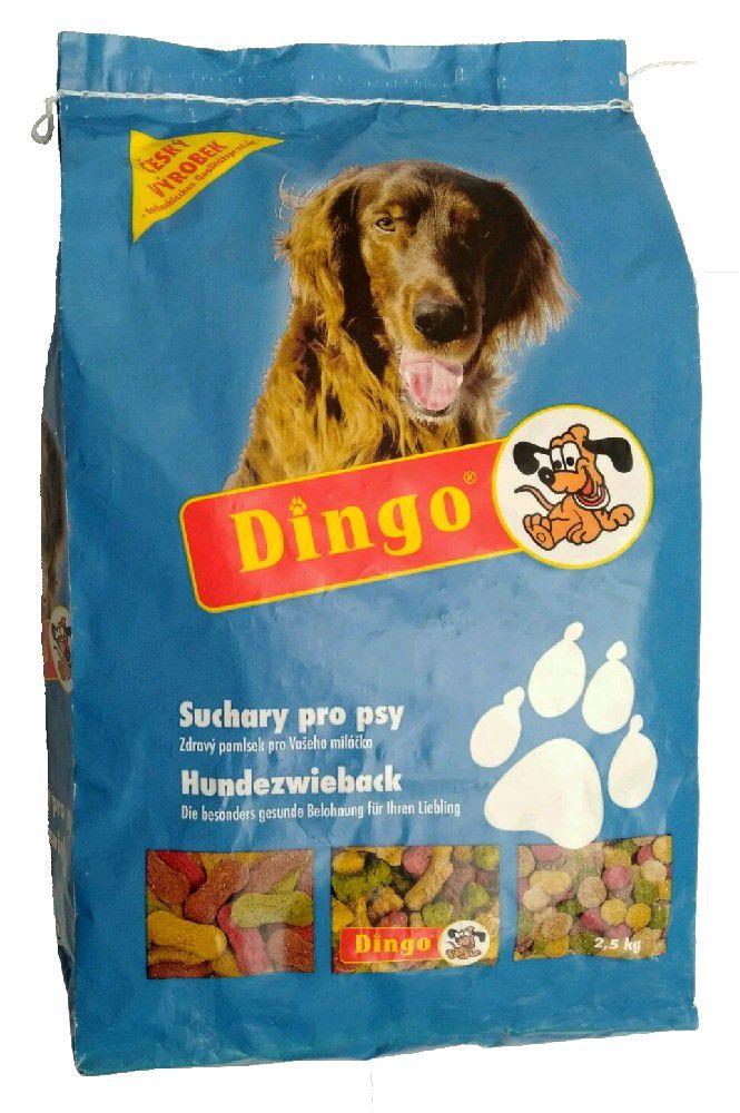 DINGO suchary 2,5kg NEBAREVNÉ-1276