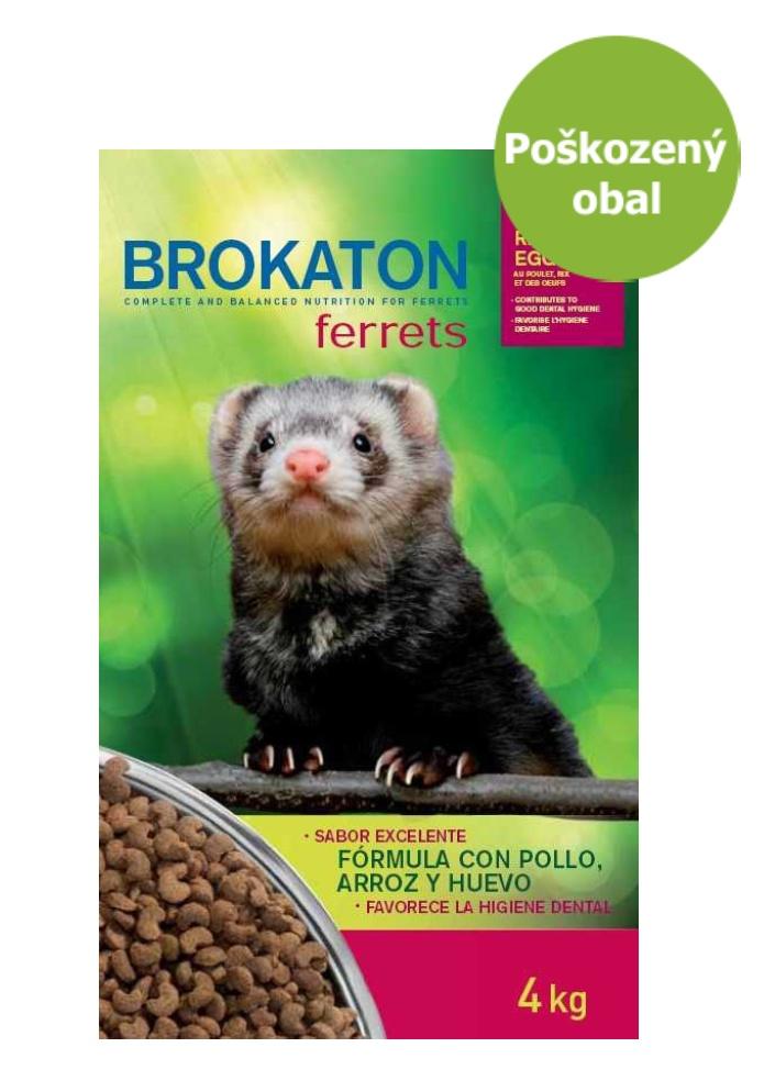 FERRETS BROKATON 4kg pro fretky-POŠKOZENY OBAL