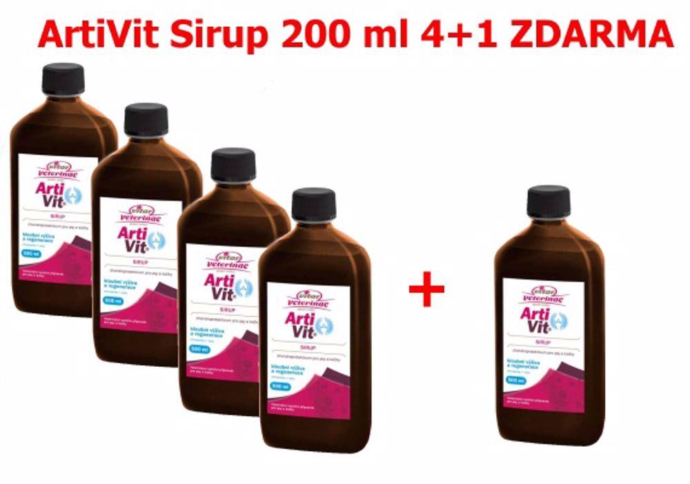 Vitar veterinae Artivit Sirup 200ml-AKCE 4+1ks ZDARMA