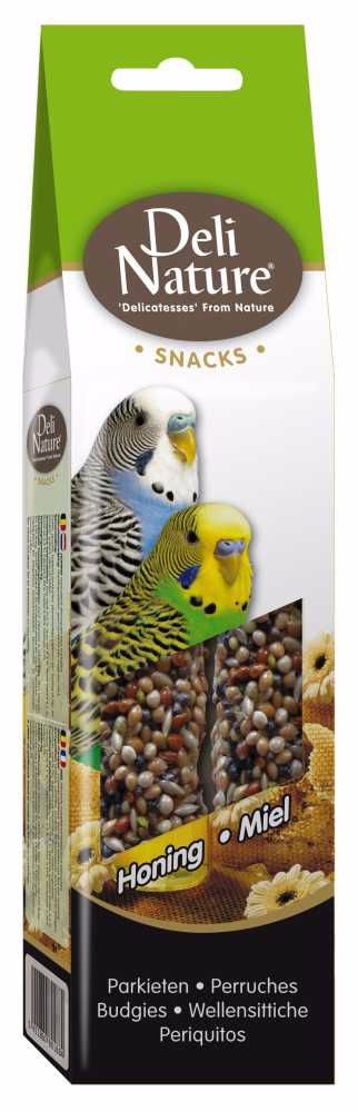 Deli Nature SNACK BUDGIES-HONEY 60g-Andulka-Med-12952