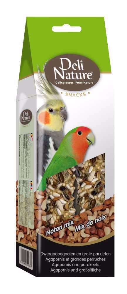 Deli Nature SNACK AGAPORNIS,PARAKEETS-NUTS 130g-Agapornis a Velký Papoušek-Ořechy -12954
