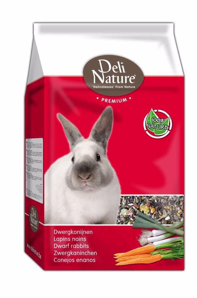 Deli Nature Premium DWARF RABBITS 3kg-Zakrslý Králík-12988