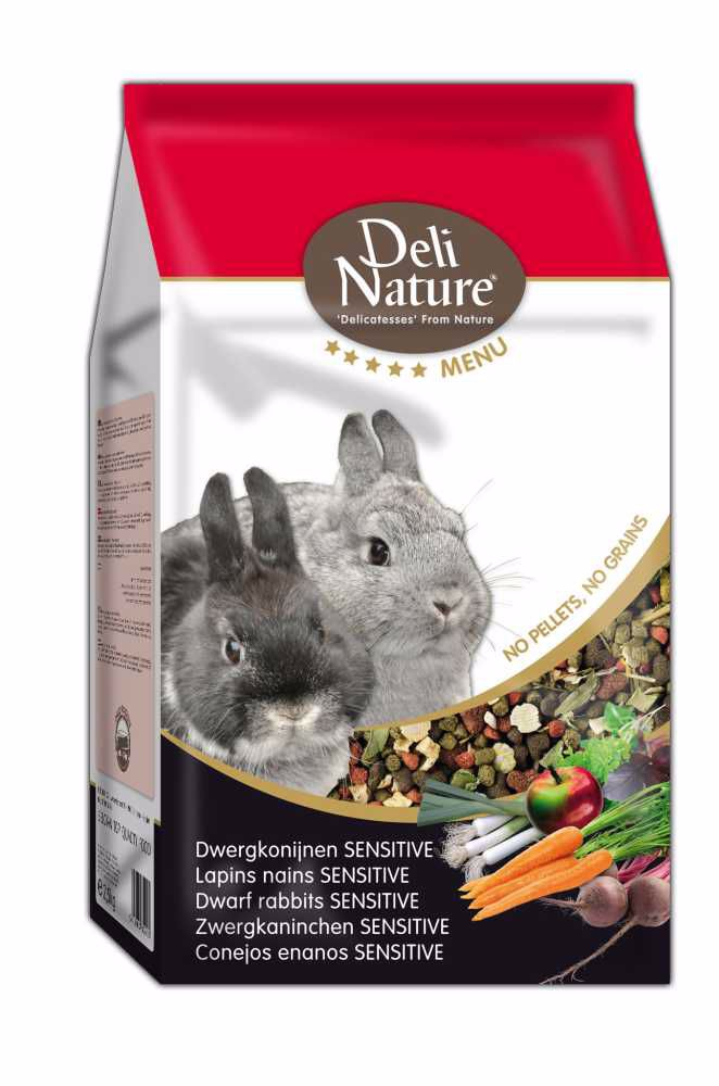 Deli Nature 5 Menu DWARF RABBITS SENSITIVE 2,5kg-Zakrslý Králík-12994