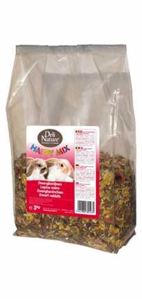 Deli Nature Happy Mix RABBITS 3kg-Králík-13006
