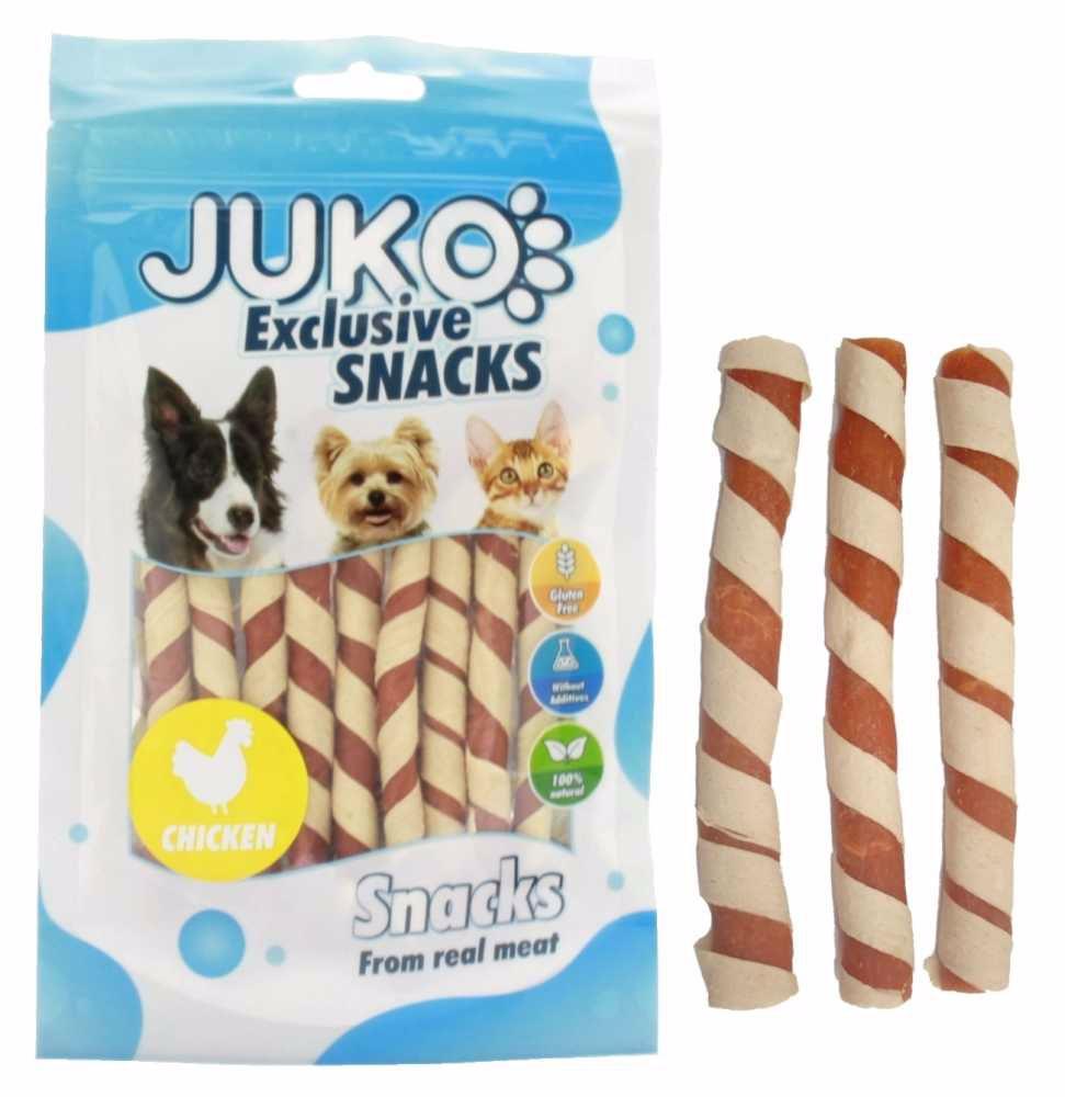 Snack Pollock Strip Wrapped Chicken Jerky Strip70g-13041