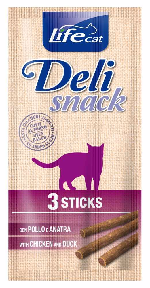 Lifecat Deli Snack Chicken&Duck Sticks 15g (3x5g)-13049