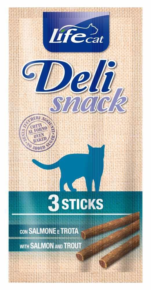Lifecat Deli Snack Salmon&Trout Sticks 15g  (3x5g)-13050