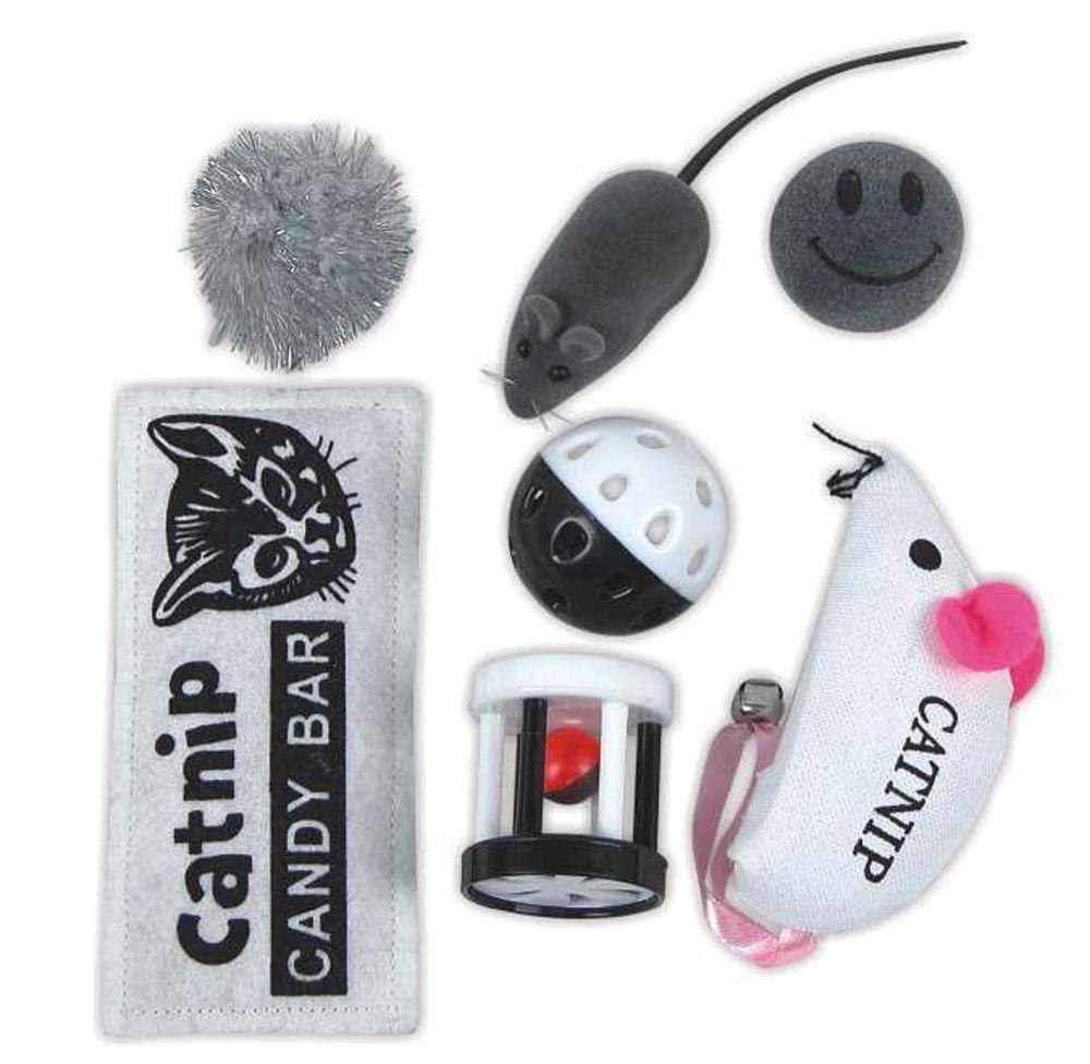 Hračky pro kočky mix s šantou 7ks-29750YG