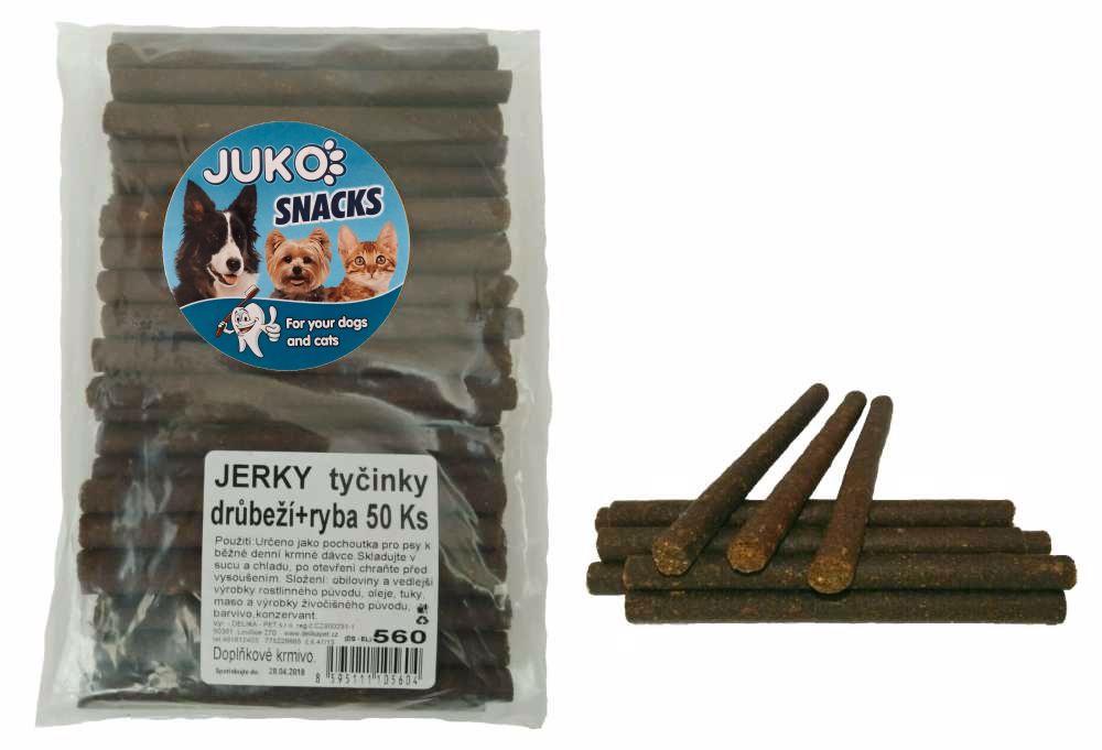 Jerky tyčinky drůbeží+ryba 50ks SMARTY-13121