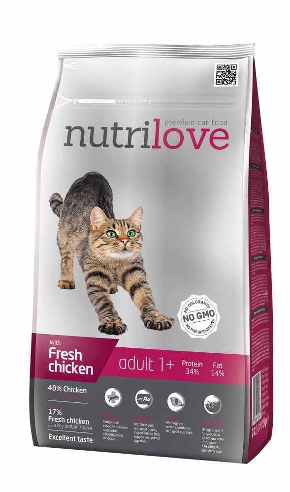 Nutrilove kočka granule ADULT fresh kuřecí 1,5kg-13208