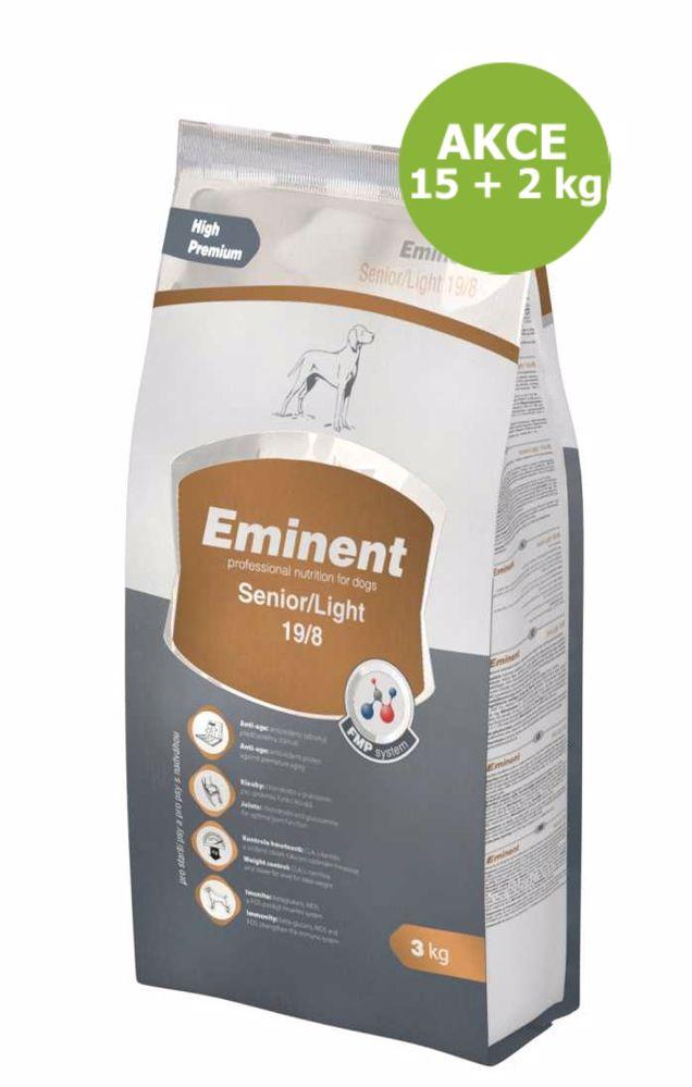 Eminent Dog Senior & Light 15 kg + 2 kg ZDARMA