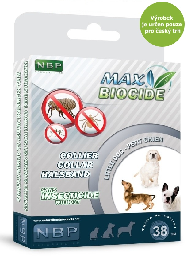 Max Biocide Collar Dog 38cm antipar. obojek-!CZ!-13423