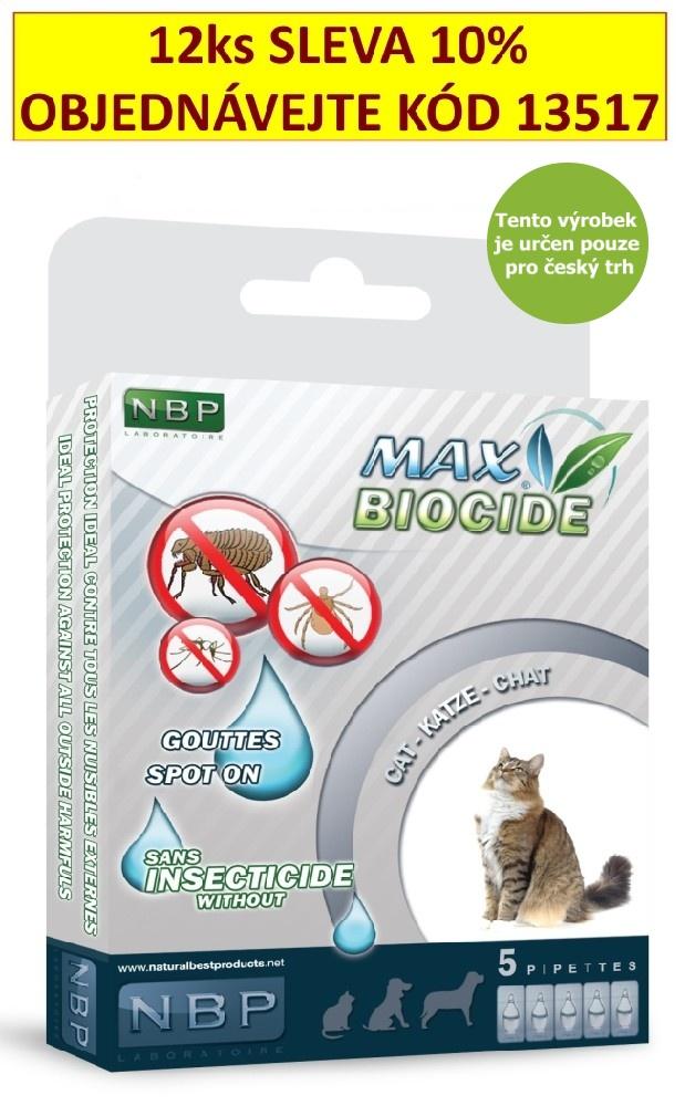 Max Biocide Spot-on Cat antiparazitní kapsle, kočka  5 x 1 ml !CZ!