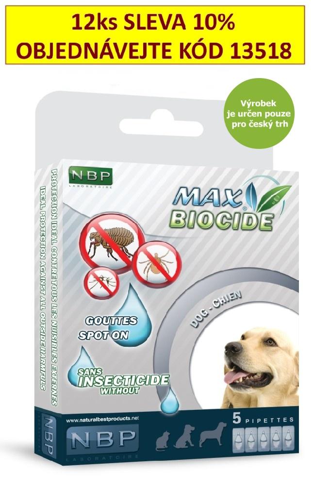 Max Biocide Spot-on Dog antiparazitní kapsle, pes 5 x 1 ml !CZ!