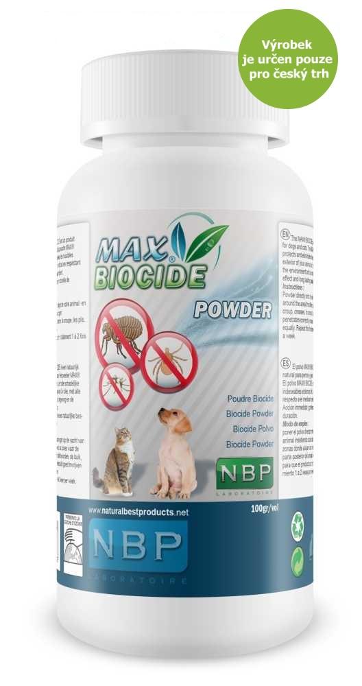 Max Biocide Powder antiparazitní pudr, pes a kočka 100 g !CZ!