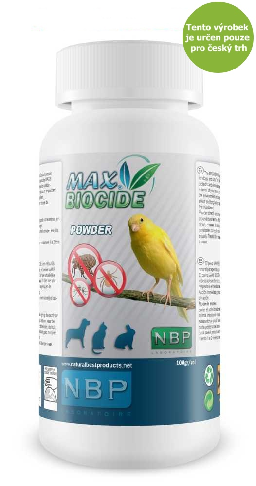 Max Biocid Bird Powder 100g antipar.pudr-pták-!CZ!-13433